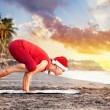 Royalty-Free Stock Photo: Christmas Yoga on the beach