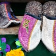 Ethnic slippers - Stock Photo