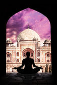Yoga meditation in India — Stock Photo