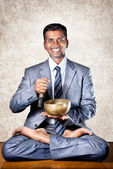Business meditation — Stock Photo