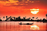 Tropisk solnedgång — Stockfoto