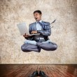 Business yoga levitation — Stock Photo