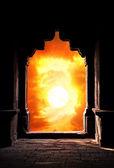 Arco silhueta por do sol — Fotografia Stock
