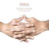 Yoga Ushas mudra — Stock Photo