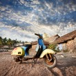 Stock Photo: Old retro scooter in India