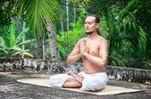 Yoga meditation in India — Stock Photo