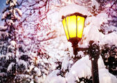 Zářící lampy — Stock fotografie