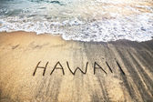 Hawaii on the sand — Stock Photo