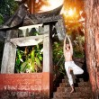 Stock Photo: Yoga near temple