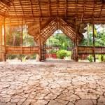 Yoga hall in India — Stock Photo