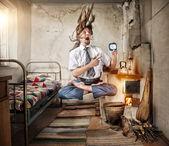 Yoga for Businessman — Stock Photo