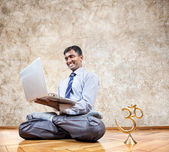 Business yoga — Stock Photo