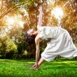 Yoga in the park — Stock Photo #18584641