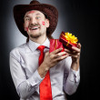 Cowboy in love — Stock Photo