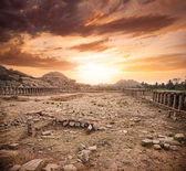 Ruins in Hampi — Foto Stock