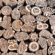 Henna wooden stamps — Stock Photo