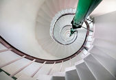 Spiral stairs in lighthouse — Stock Photo