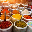 Foto Stock: Indian colored spices