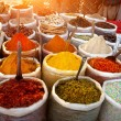 Indian colored spices — Stockfoto