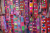 Ethnic belts with mirrors — Stock Photo