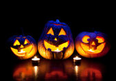Halloween pumpkins glowing inside — Photo