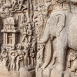 Elephants rock in Mamallapuram — Stock Photo