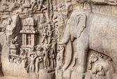 Elephants rock in Mamallapuram — Stock Photo