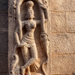 Hindu goddess on the wall in India — Stock Photo #26639789