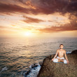 Royalty-Free Stock Photo: Yoga meditation near the ocean