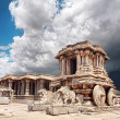 Stone chariot in Hampi — Stock Photo