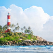 Stock Photo: Lighthouse on rocks