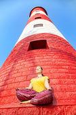 Deniz feneri, meditasyon — Stok fotoğraf
