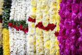 Flower garlands in India — Stock Photo