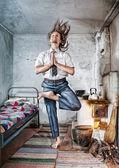 Iş yoga — Stok fotoğraf