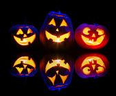 хэллоуин тыква свечение внутри — Стоковое фото
