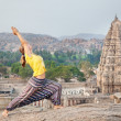 Stock Photo: Yognear temple in Hampi