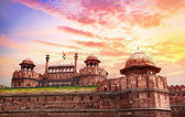 Red fort in India — Stock Photo