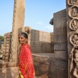 Stock Photo: Indiwomin Mamallapuram Temple