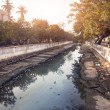 Canal in India — Stock Photo