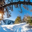 Stock Photo: Winter mountain scenery