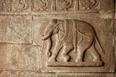 Elephant basrelief in Hampi — Stock Photo