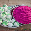 Stock Photo: Indipink powder