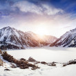 Winter Mountain Lake — Stockfoto