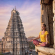 Meditation in Hampi — Stock Photo