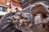 Wooden chariot in Gokarna — Stok fotoğraf