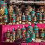 Prayer wheels at Nepali market — Stock Photo #46462881