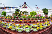 Festival at Bodhnath stupa — Stock Photo