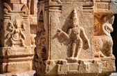 Indian ancient basrelief in Hampi — Stock Photo