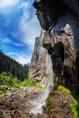 Mountain waterfall — Stockfoto