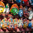 ������, ������: Souvenir masks at Nepal market
